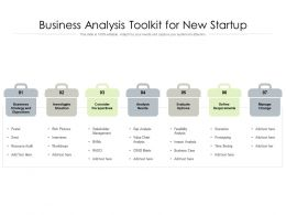 Business Analysis Toolkit For New Startup