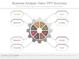 Business Analysis Vision Ppt Summary