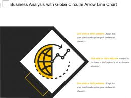 Business Analysis With Globe Circular Arrow Line Chart