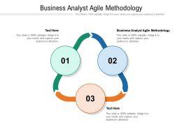 Business Analyst Agile Methodology Ppt Powerpoint Presentation Portfolio Clipart Cpb