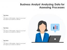 Business Analyst Analyzing Data For Assessing Processes