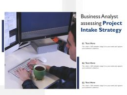 Business Analyst Assessing Project Intake Strategy