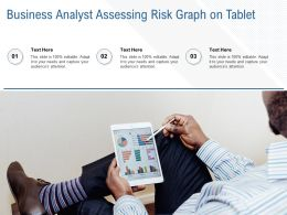 Business Analyst Assessing Risk Graph On Tablet