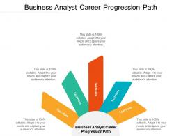 Business Analyst Career Progression Path Ppt Powerpoint Presentation Gallery Example Cpb