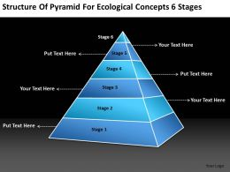 Business Analyst Diagrams Of Pyramid For Ecological Concepts 6 Stages Powerpoint Templates