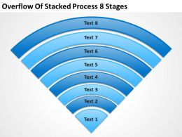 Business Analyst Diagrams Stacked Process 8 Stages Powerpoint Templates PPT Backgrounds For Slides