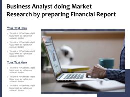 Business Analyst Doing Market Research By Preparing Financial Report