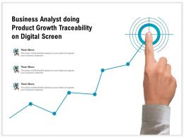 Business Analyst Doing Product Growth Traceability On Digital Screen