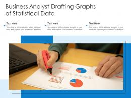 Business Analyst Drafting Graphs Of Statistical Data