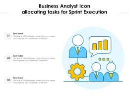 Business Analyst Icon Allocating Tasks For Sprint Execution