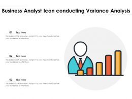 Business Analyst Icon Conducting Variance Analysis