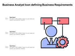 Business Analyst Icon Defining Business Requirements