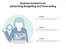 Business Analyst Icon Performing Budgeting And Forecasting