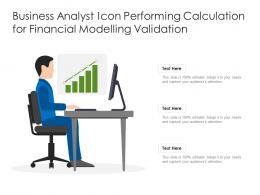 Business Analyst Icon Performing Calculation For Financial Modelling Validation