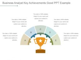 Business Analyst Key Achievements Good Ppt Example