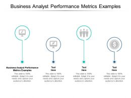 Business Analyst Performance Metrics Examples Ppt Powerpoint Presentation Gallery File Cpb