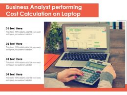 Business Analyst Performing Cost Calculation On Laptop