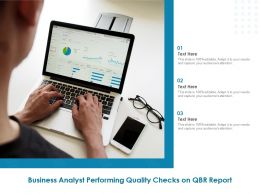 Business Analyst Performing Quality Checks On QBR Report
