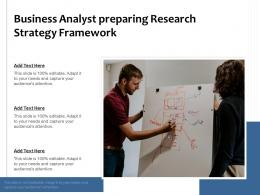 Business Analyst Preparing Research Strategy Framework