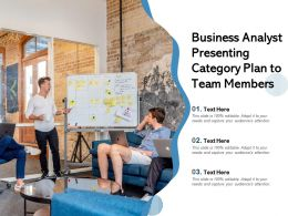 Business Analyst Presenting Category Plan To Team Members