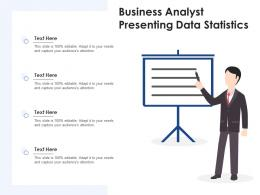 Business Analyst Presenting Data Statistics