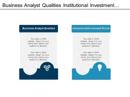 Business Analyst Qualities Institutional Investment Funds Strategic Sourcing Organization Cpb