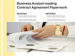 Business Analyst Reading Contract Agreement Paperwork