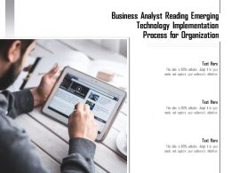 Business Analyst Reading Emerging Technology Implementation Process For Organization