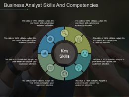 Business Analyst Skills And Competencies Powerpoint Templates