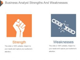 Business Analyst Strengths And Weaknesses Powerpoint Ideas