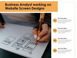 Business Analyst Working On Website Screen Designs