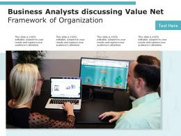 Business Analysts Discussing Value Net Framework Of Organization