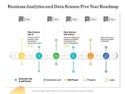 Business Analytics And Data Science Five Year Roadmap