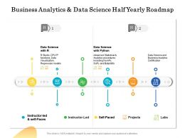 Business Analytics And Data Science Half Yearly Roadmap