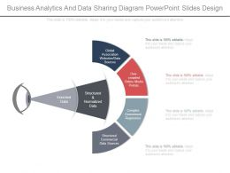 Business Analytics And Data Sharing Diagram Powerpoint Slides Design