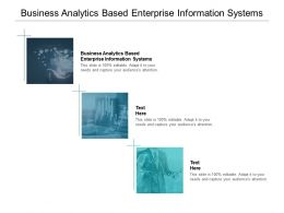 Business Analytics Based Enterprise Information Systems Ppt Powerpoint Pictures Cpb