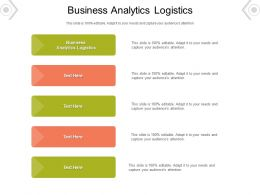 Business Analytics Logistics Ppt Powerpoint Presentation Slides Good Cpb