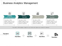 Business Analytics Management Ppt Powerpoint Presentation Portfolio Styles Cpb
