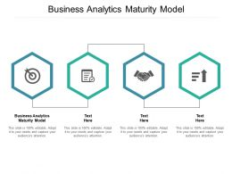 Business Analytics Maturity Model Ppt Powerpoint Presentation Summary Information Cpb