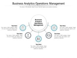 Business Analytics Operations Management Ppt Powerpoint Presentation Layouts Objects Cpb