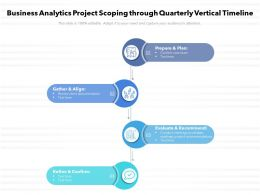 Business Analytics Project Scoping Through Quarterly Vertical Timeline