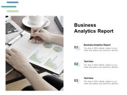 Business Analytics Report Ppt Powerpoint Presentation Layouts Templates Cpb