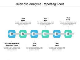 Business Analytics Reporting Tools Ppt Powerpoint Presentation File Inspiration Cpb
