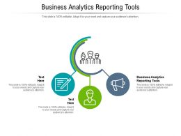Business Analytics Reporting Tools Ppt Powerpoint Presentation Inspiration Background Designs Cpb