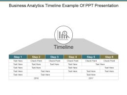 Business Analytics Timeline Example Of Ppt Presentation