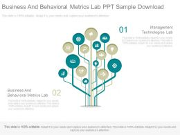 Business And Behavioral Metrics Lab Ppt Sample Download