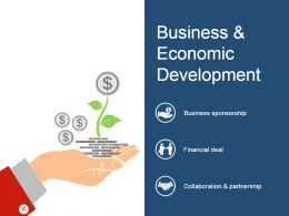 Business And Economic Development Presentation Powerpoint Example