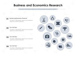 Business And Economics Research Ppt Powerpoint Presentation Professional Graphics