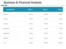Business And Financial Analysis Marketing Cost Ppt Portfolio Slide Portrait