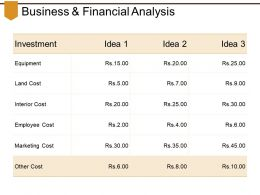 Business And Financial Analysis Powerpoint Slide Information
